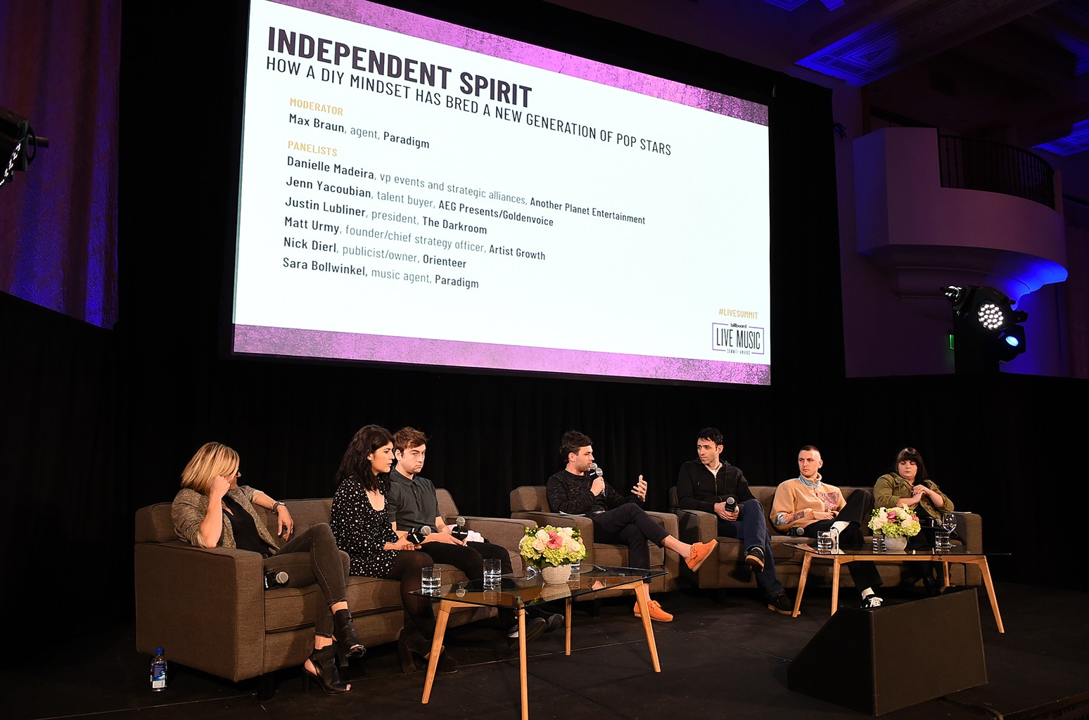 Independent Spirit: How a DIY Mindset Has Bred a New Generation of Pop Stars Panel at the 2018 Billboard Live Music Summit + Awards at the Montage Beverly Hills on Nov. 14, 2018 in Beverly Hills, Calif.