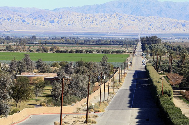 A view of Indio in the Coachella Valley, Calif.