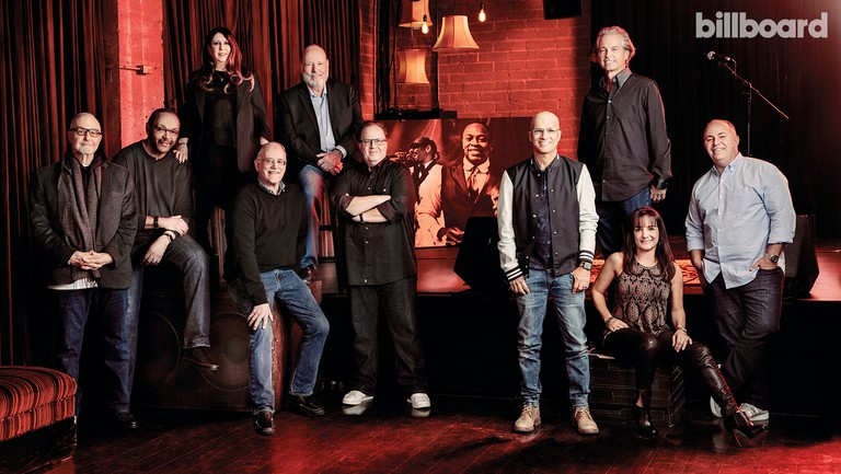 <p>From left: Michael Papale, Step Johnson, Brenda Romano, Ted Field, David Cohen, Steve Berman, Jimmy Iovine, Tom Whalley, Lori Earl and Nino Cuccinello photographed on Jan. 26 at Thom Thom Club in Santa Monica.</p>