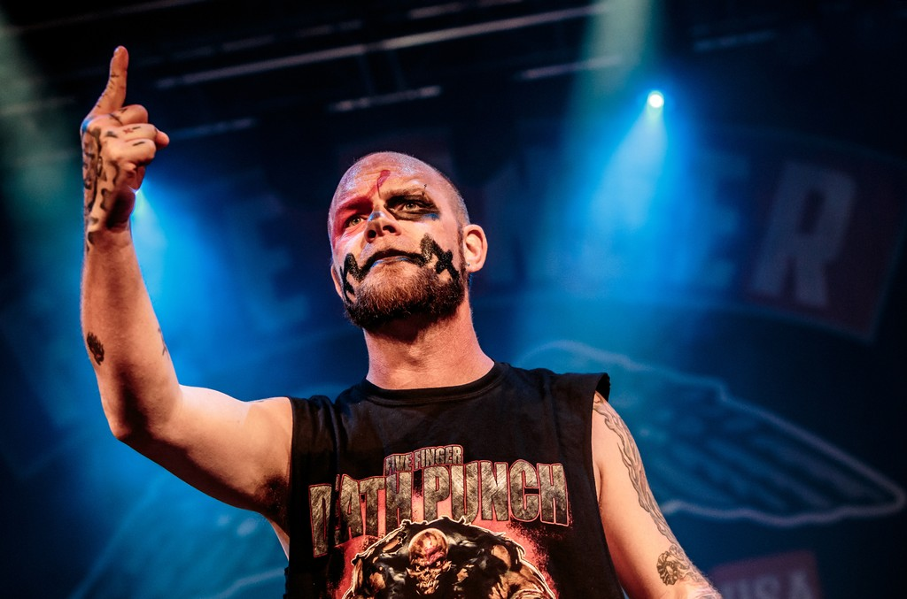 Ivan Moody of Five Finger Death Punch performs at Alcatraz on June 6, 2017 in Milan, Italy.