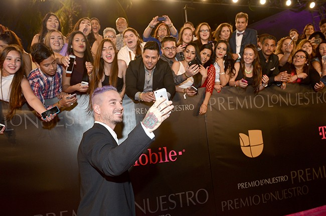 J Balvin with Fans