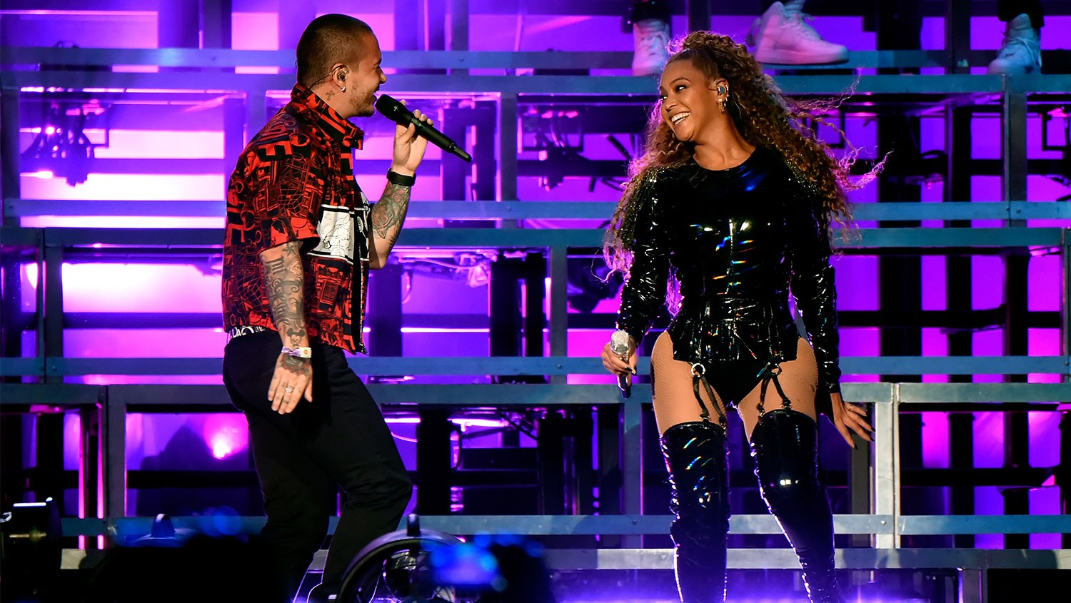 J Balvin and Beyonce Knowles