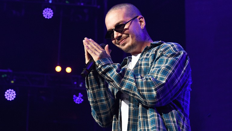 <p>J. Balvin performs onstage during Calibash Los Angeles 2018 at Staples Center on Jan. 20, 2018 in Los Angeles.&nbsp&#x3B;</p>