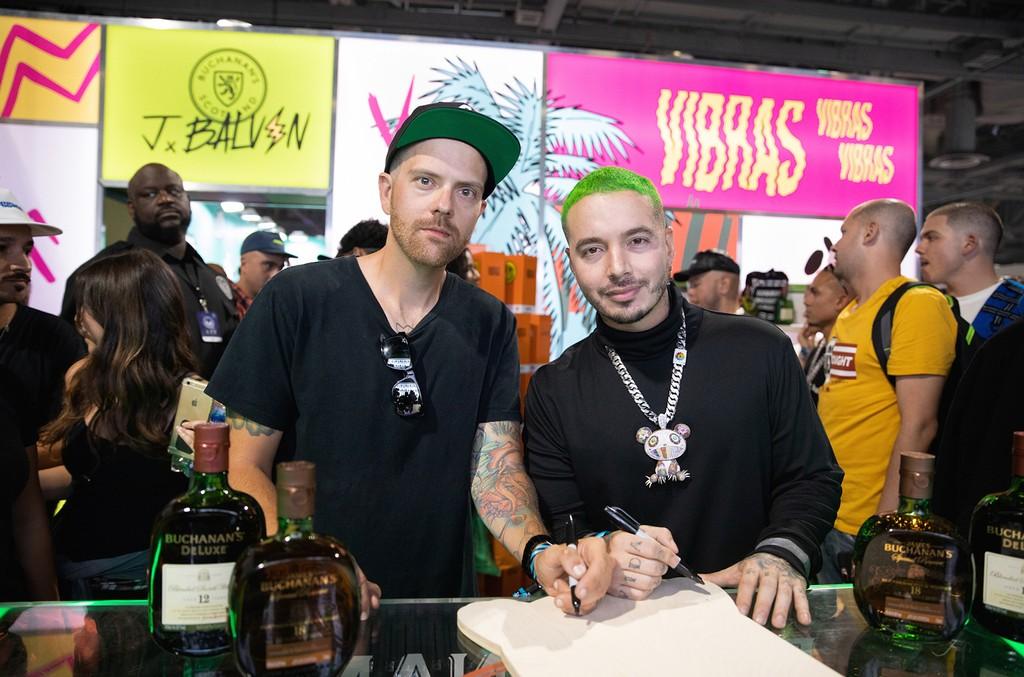J Balvin and Matt Grondek