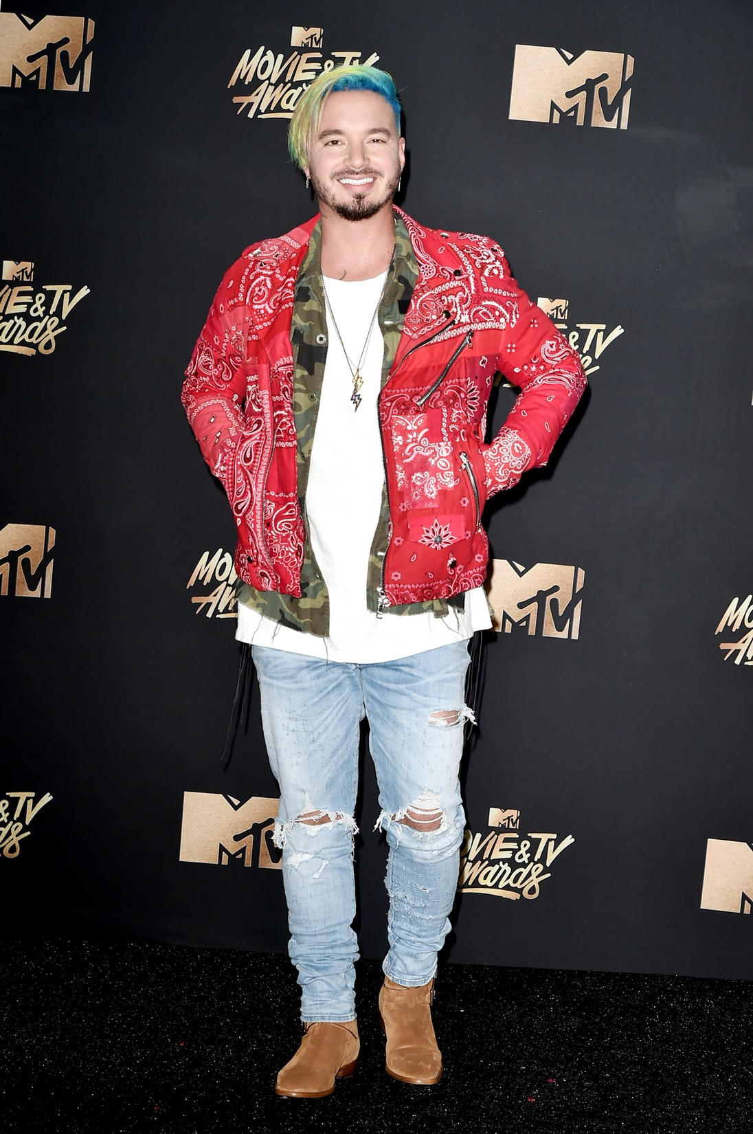 J Balvin attends the 2017 MTV Movie and TV Awards at The Shrine Auditorium on May 7, 2017 in Los Angeles.
