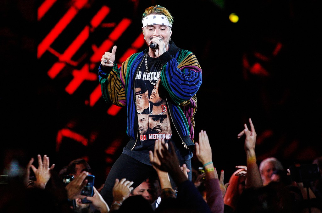 J. Balvin performs at the 58th Viña del Mar International Song Festival in Chile on Feb. 25, 2017.
