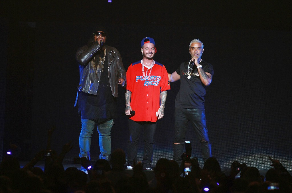 J Balvin performs with Zion & Lennox at Coliseo Jose M. Agrelot on March 18, 2017 in San Juan, Puerto Rico.