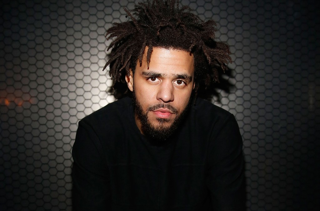 J. Cole is pictured following a New Year's Eve performance at the Light Nightclub at the Mandalay Bay Resort and Casino on Dec. 31, 2015 in Las Vegas.