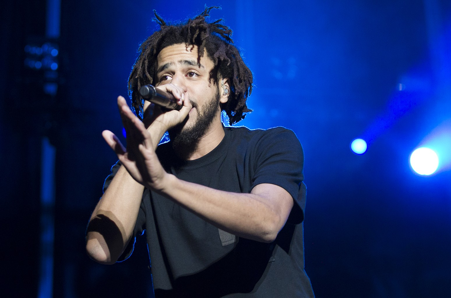 J. Cole performs during the 2016 Life Is Beautiful festival