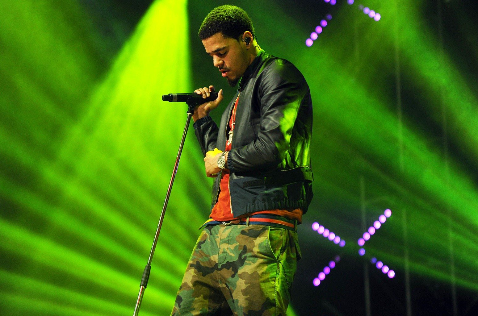 J. Cole performs in Ebrington Square