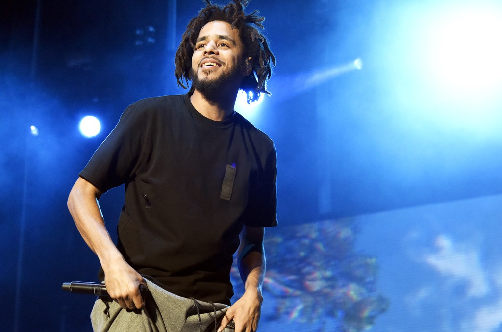 J. Cole performs during the 2016 Life is Beautiful festival on Sept. 24, 2016 in Las Vegas.