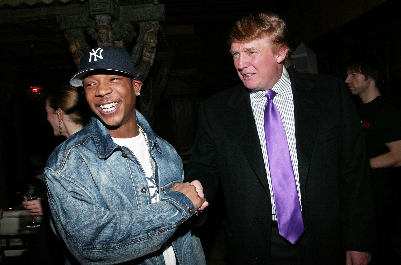 Ja Rule and Donald Trump at Spice Market Feb. 11, 2003 in New York City.