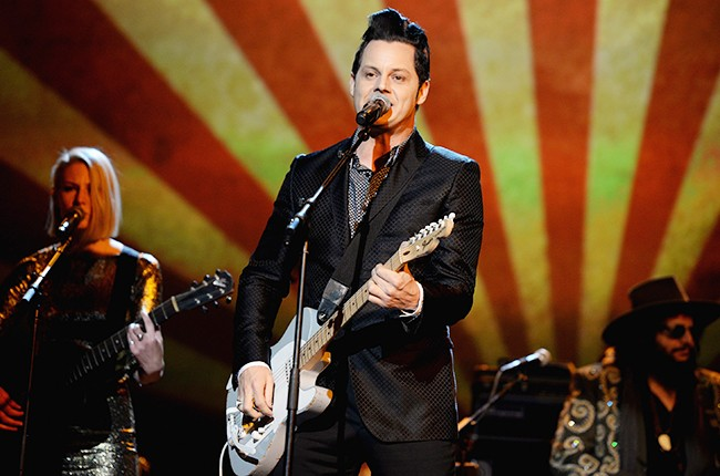 Jack White performs onstage at the 25th anniversary MusiCares 2015 Person Of The Year Gala honoring Bob Dylan