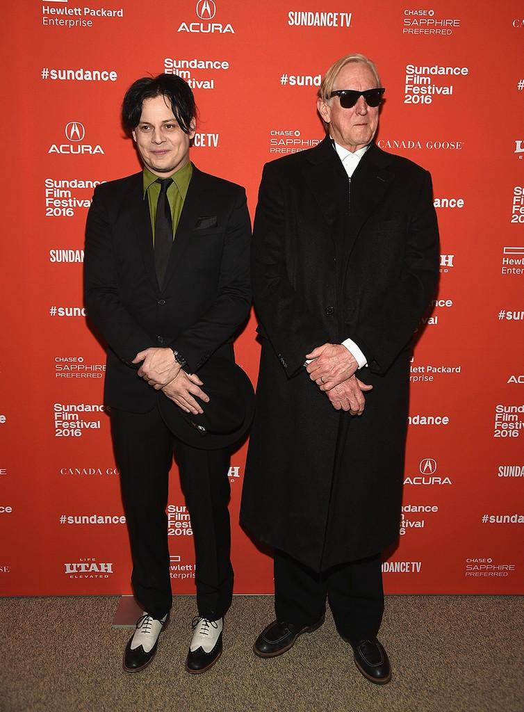 "Jack White and T Bone Burnet attend the ""American Epic"" Premiere"