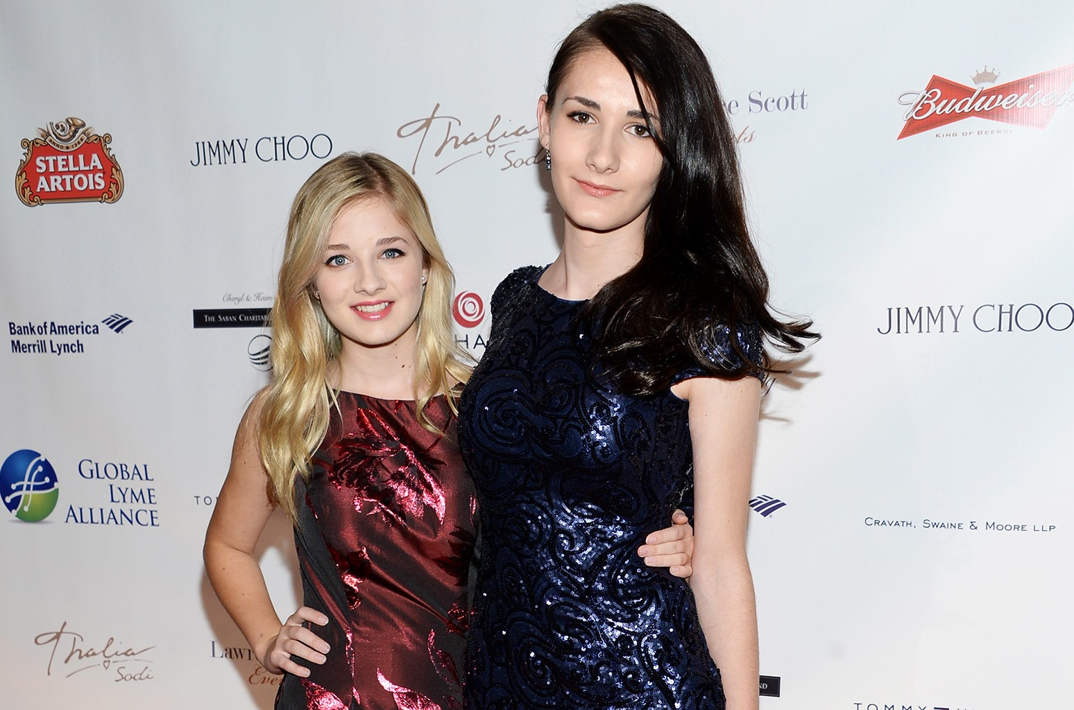 Jackie Evancho and Juliet Evancho attend the Global Lyme Alliance Inaugural Gala at Cipriani 42nd Street on Oct. 8, 2015 in New York City.
