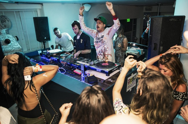 Jackmaster and Seth Troxler perform at the breakfast party at Red Bull Guest House in Miami