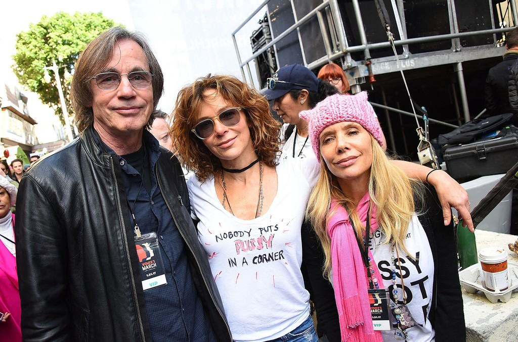 Jackson Browne, Jennifer Grey and Rosanna Arquette attend the Women's March Los Angeles on January 21, 2017 in Los Angeles, California.  (Photo by Araya Diaz/Getty Images)