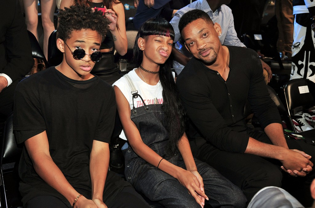 Jaden Smith, Willow Smith and Will Smith