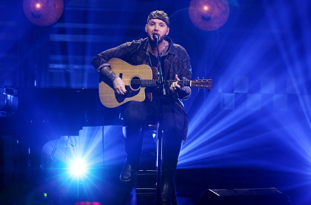 """James Arthur performs """"Say You Won't Let Go"""" on 'The Tonight Show Starring Jimmy Fallon' on April 25, 2017."""