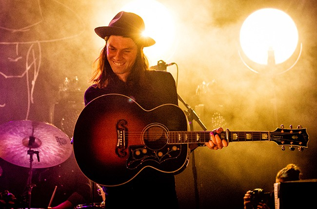 James Bay performs at KOKO on February 12, 2015 in London