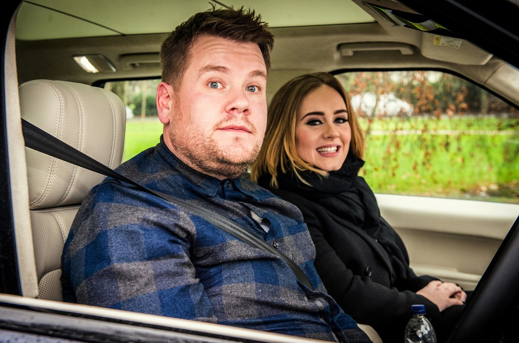 James Corden and Adele during Carpool Karaoke