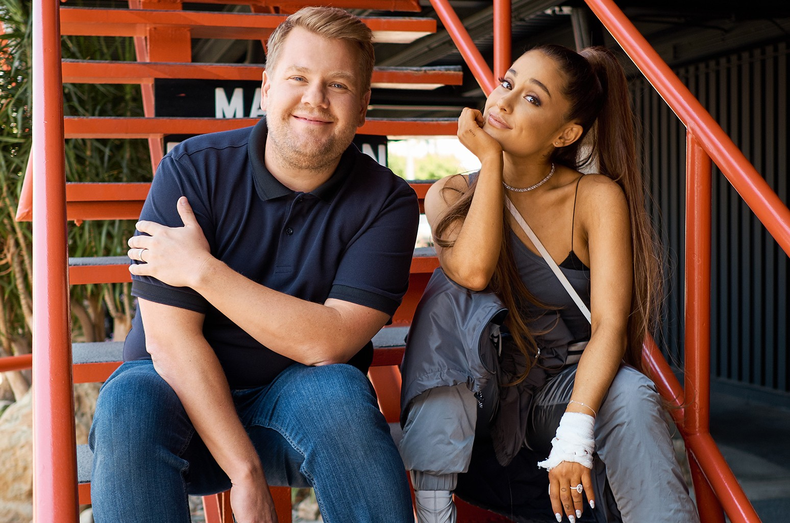 James Corden Ariana Grande