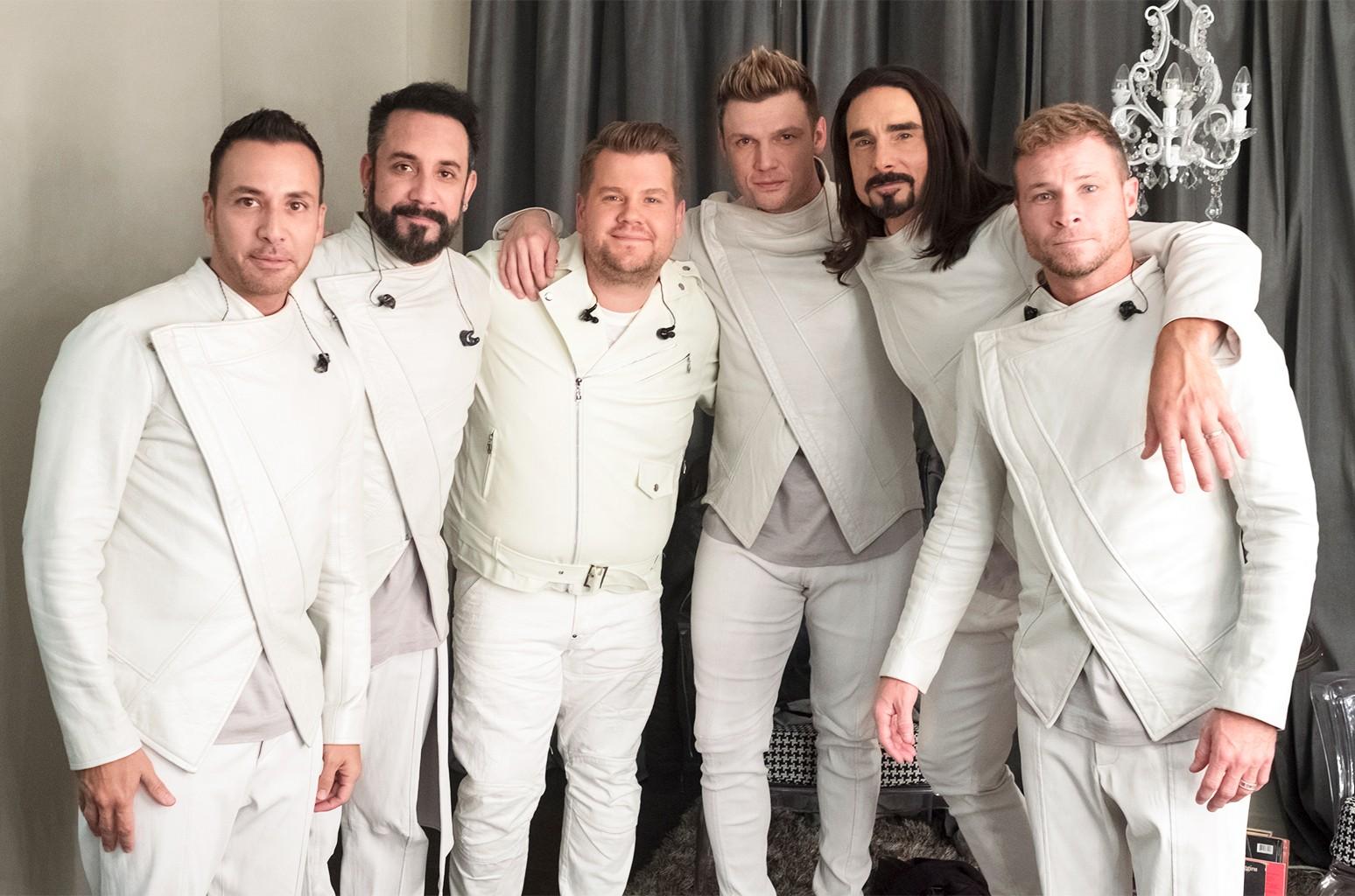 James Corden and The Backstreet Boys