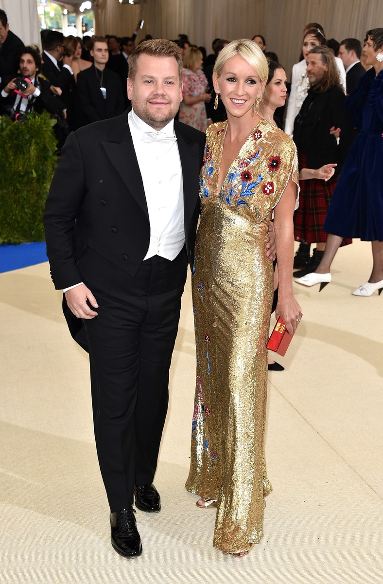 "James Corden and Julia Carey attend ""Rei Kawakubo/Comme des Garcons: Art Of The In-Between"" Costume Institute Gala at Metropolitan Museum of Art on May 1, 2017 in New York City."
