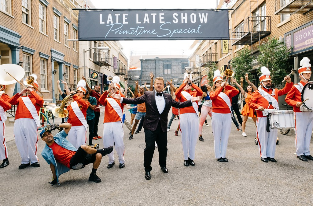 """James Corden performs in the Prime Time Special opening act during """"The Late Late Show with James Corden"""" on Jan. 17, 2017 on The CBS Television Network."""