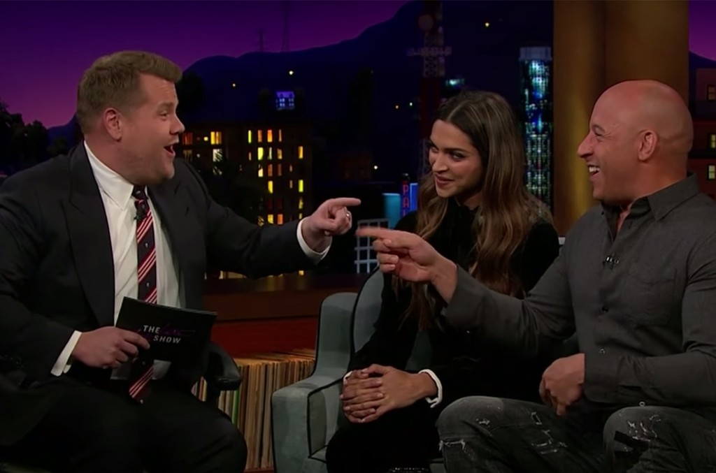 Vin Diesel Auditions for carpool karaoke on The Late Late Show with James Corden.