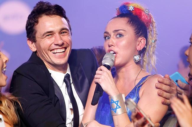 James Franco and Miley Cyrus
