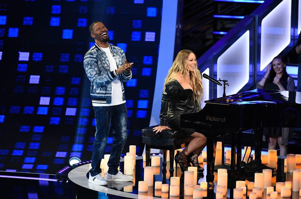 "Jamie Foxx and Mariah Carey on ""Beat Shazam"""