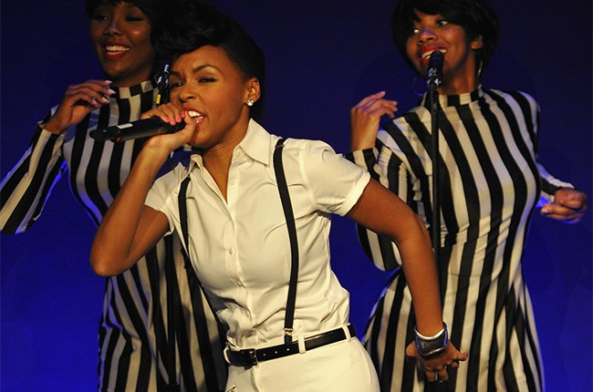 Janelle Monáe performs at Rebecca Minkoff's New York Fashion Week show, September 2013.
