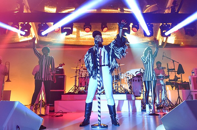Janelle Monae performs at the 2015 MOCA Gala 2015