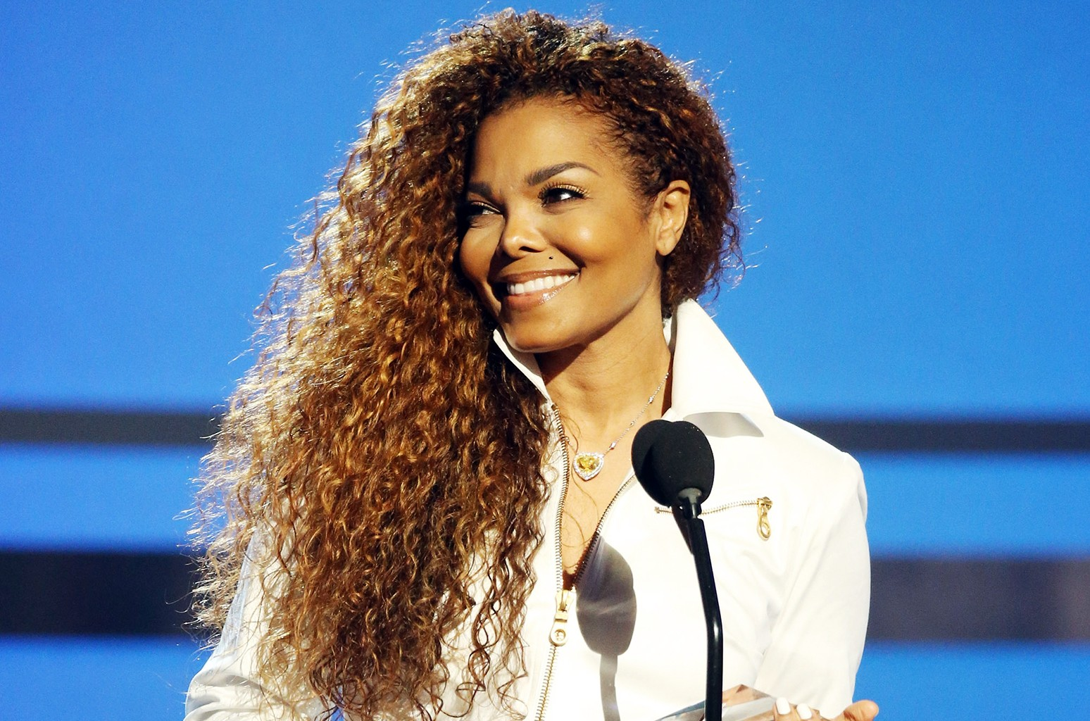 Janet Jackson speaks during the 2015 BET Awards