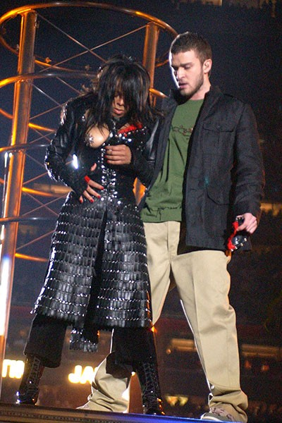 Janet Jackson and Justin Timberlake, 2004.