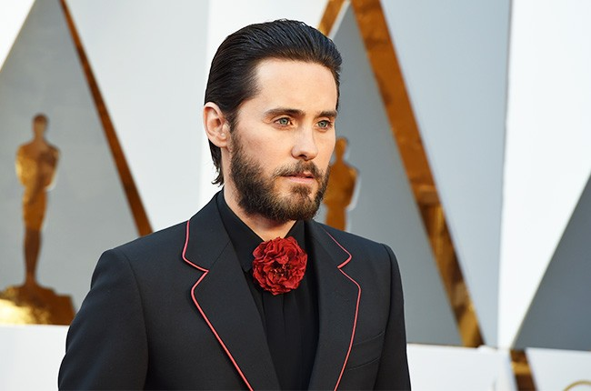 Jared Leto on the 2016 Oscars red carpet on Feb. 28.
