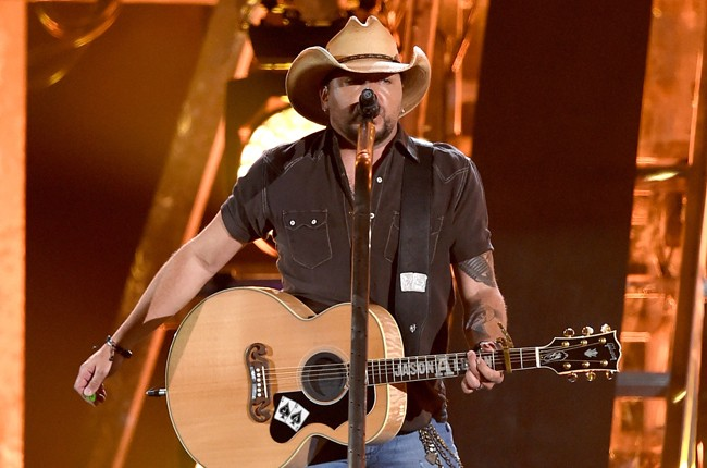 Jason Aldean performs onstage during the 50th Academy Of Country Music Awards