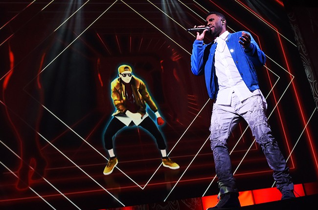 """Jason Derulo  """"Want to Want Me""""  """"Just Dance 2016"""" Ubisoft E3 press conference  Electronic Entertainment Expo Los Angeles, on June 15, 2015."""