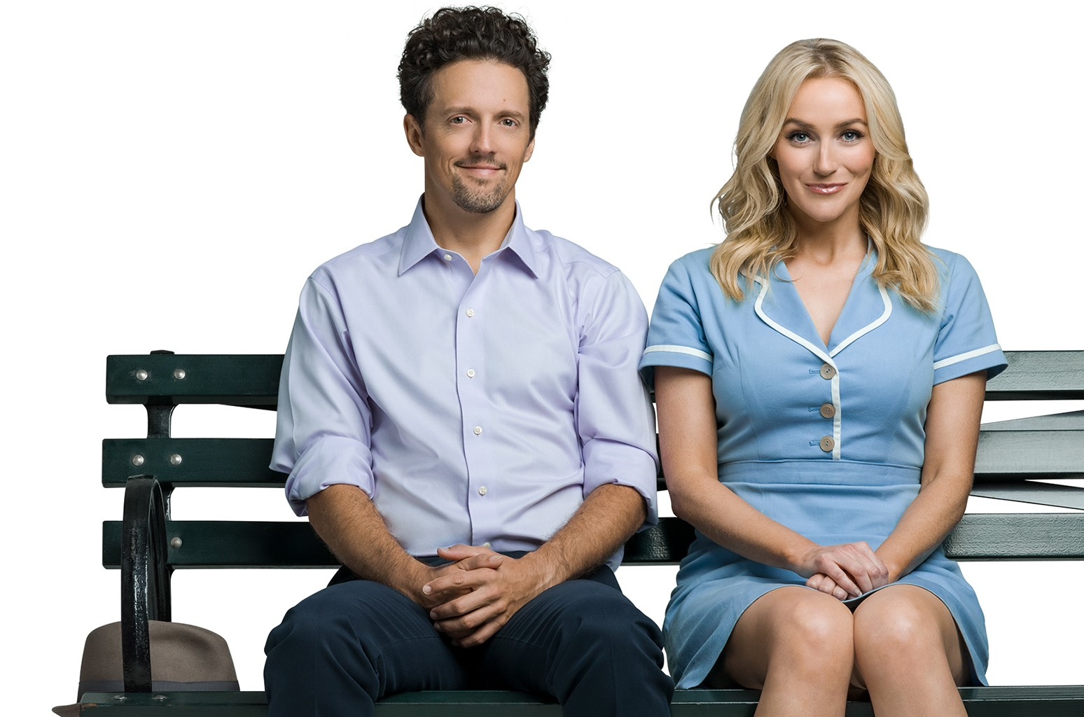 Jason Mraz and Betsy Wolfe in a promo for Waitress