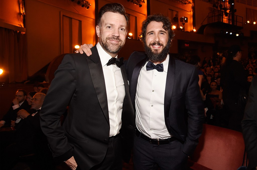 Jason Sudeikis and Josh Groban attend the 2017 Tony Awards at Radio City Music Hall on June 11, 2017 in New York City.