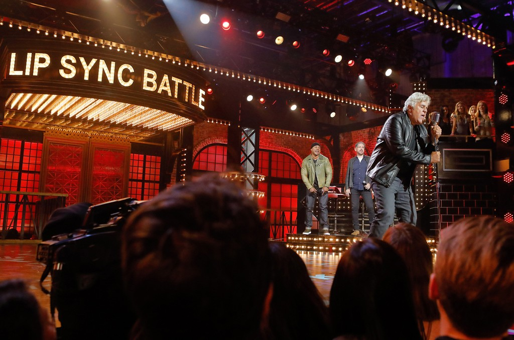 Jay Leno on Lip Sync Battle.