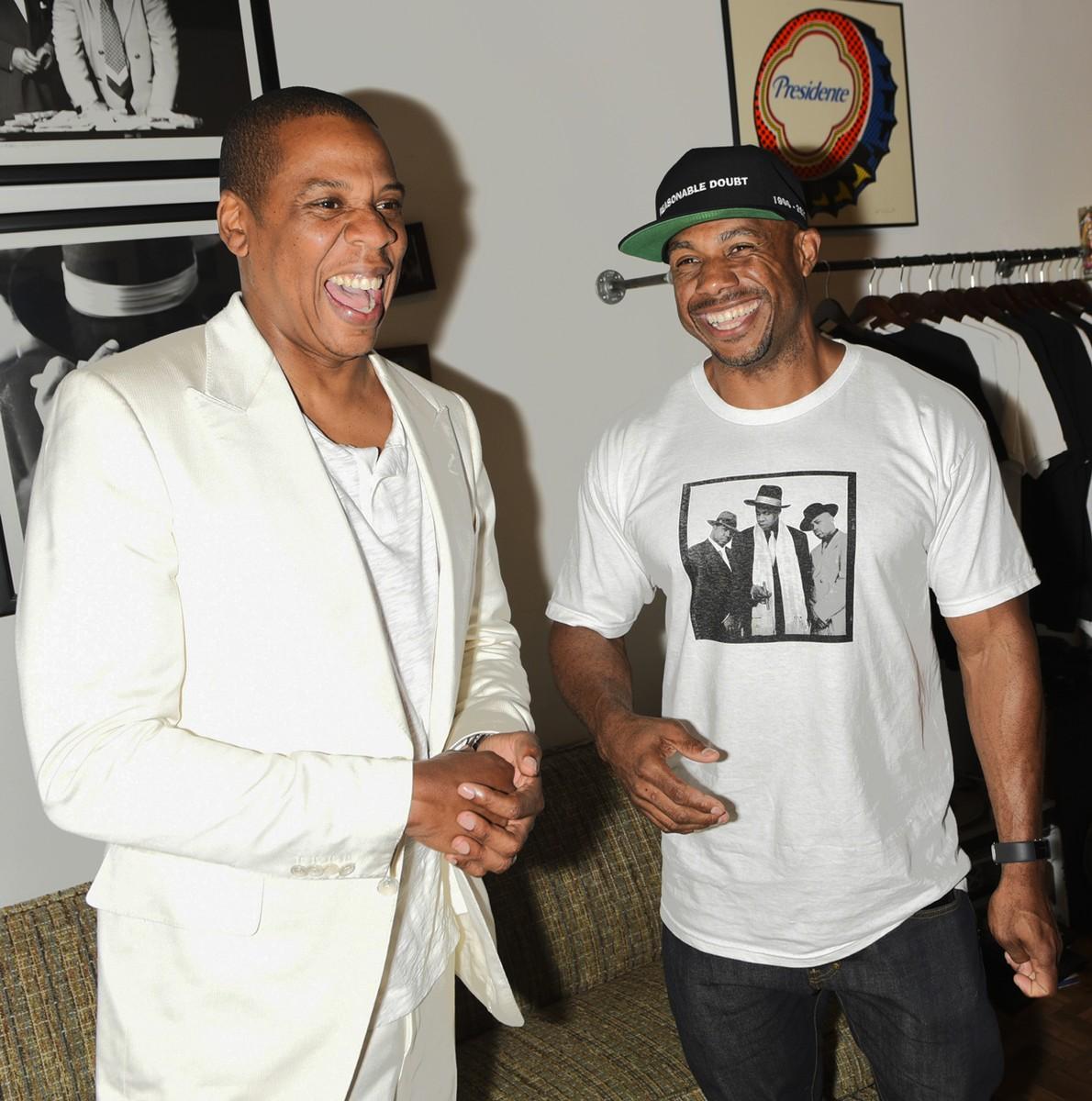 Jay-Z and Kareem 'Biggs' Burke