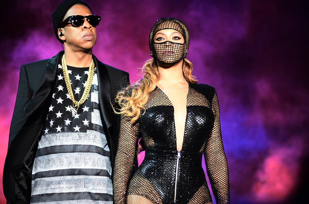 Beyonce and Jay Z perform during the Beyonce and Jay Z - On the Run tour at AT&T Park on Aug. 5, 2014, in San Francisco.