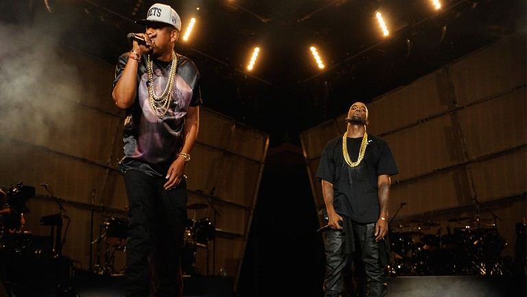 <p>Jay-Z and Kanye West perform during the Budweiser Made In America Festival Benefiting The United Way - Day 1 at Benjamin Franklin Parkway on Sept. 1, 2012 in Philadelphia.</p>