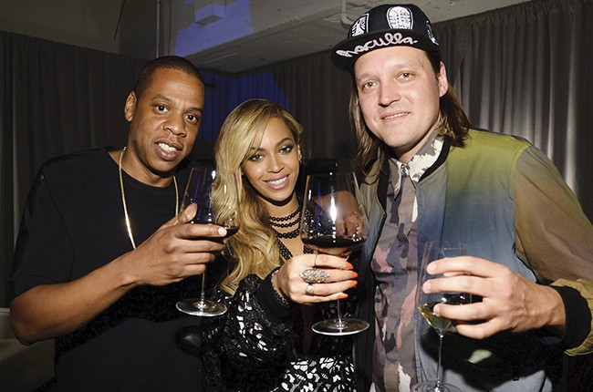 Jay Z, Beyonce and Win Butler of Arcade Fire attend the Tidal launch event #TIDALforALL
