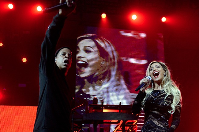 Jay Z and Beyonceat DirecTV Super Saturday Night on February 1, 2014 in NYC.