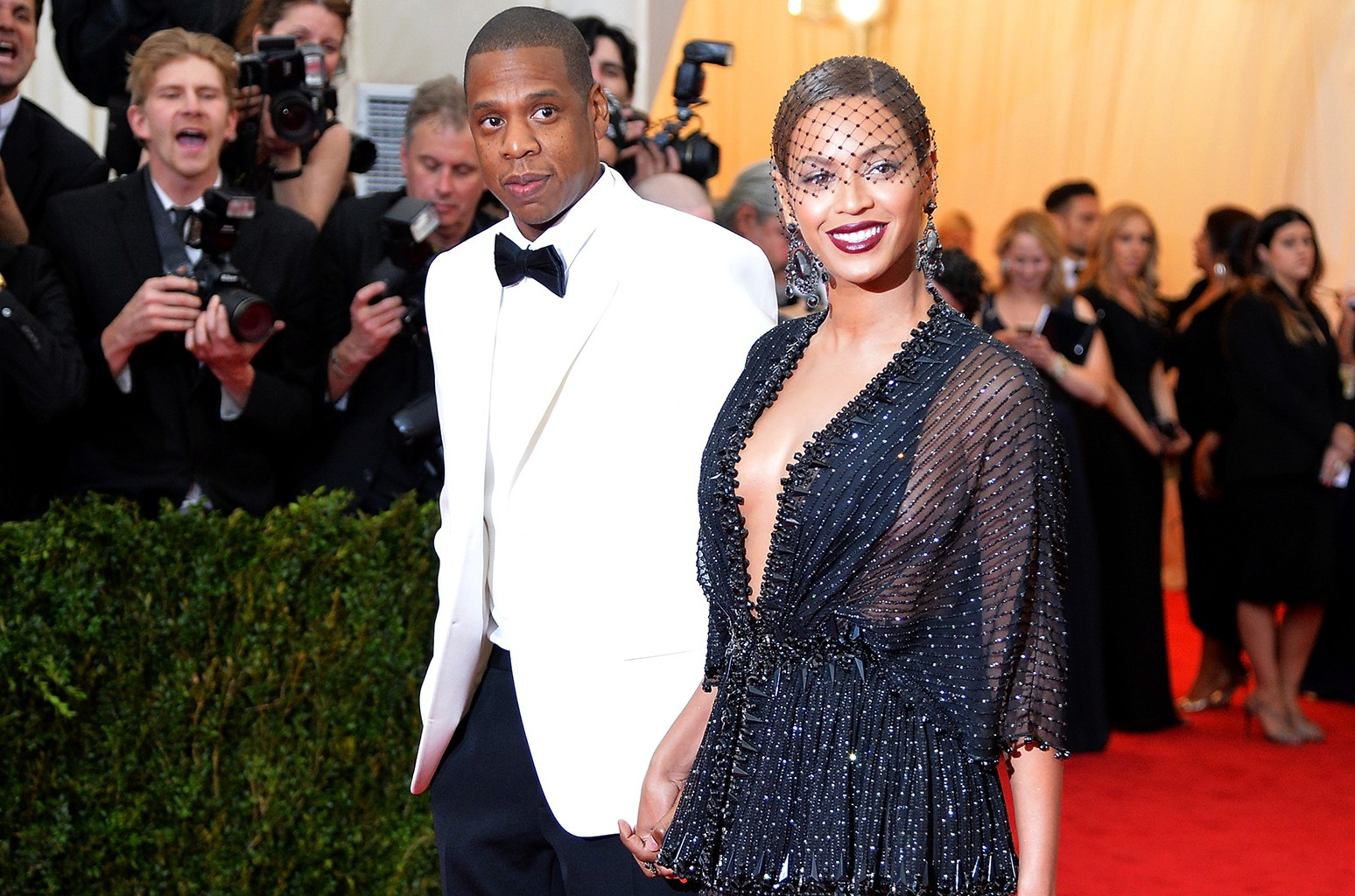 """Jay Z and Beyonce attend the """"Charles James: Beyond Fashion"""" Costume Institute Gala at the Metropolitan Museum of Art on May 5, 2014 in New York City."""