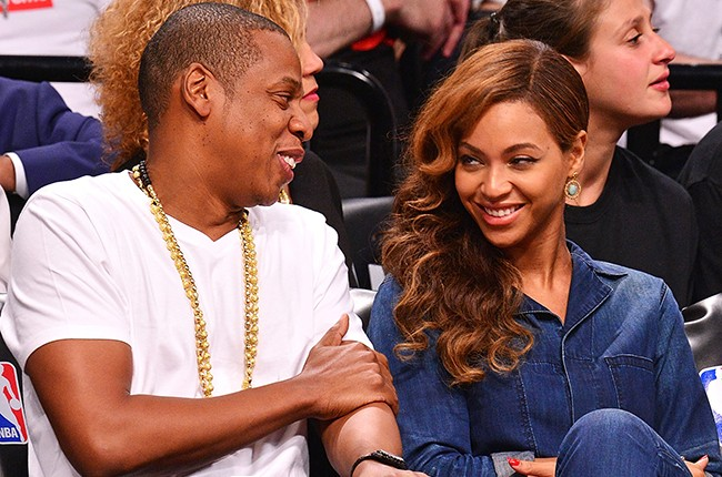 Jay Z and Beyonce sit courtside at Nets playoff game