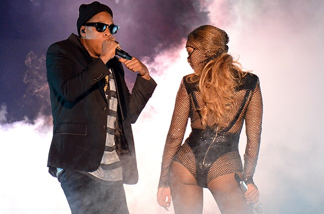 Beyonce ad Jay Z during On The Run Tour